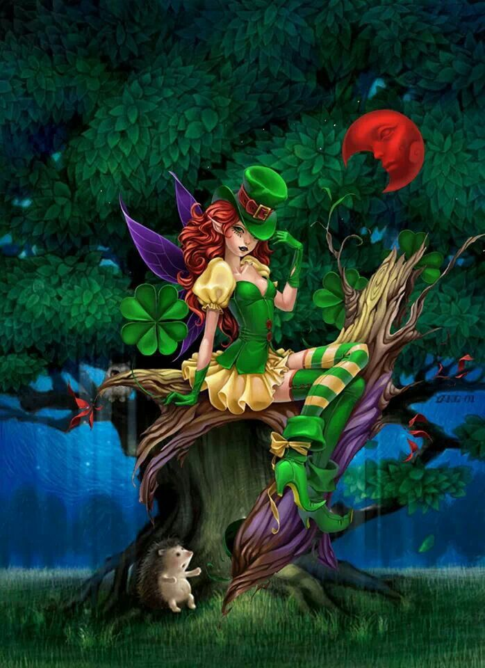 Cute Leprechaun Wallpaper From Fairies Dragons And Other Mythological Creatures