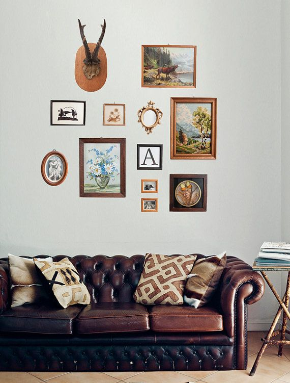 leather & gallery wall.