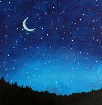 Night Sky Painting Kids Wall Art Nursery Decor by SunlitCo ...