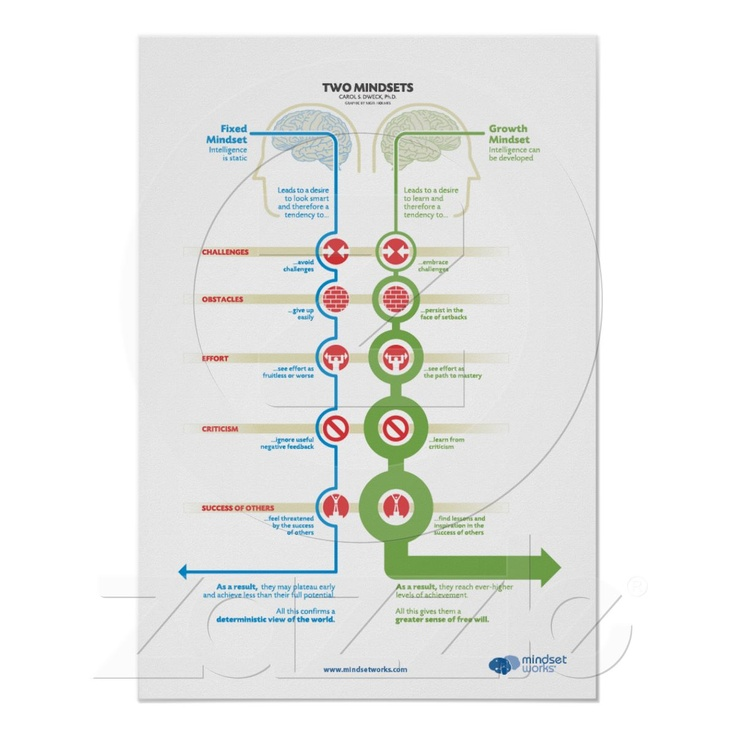 nigel holmes diagram mindset wiring in parallel i really want this carol dweck diagram, by poster from zazzle.com $19.80 ...
