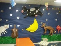 3-D Nursery Rhymes made out of bulletin board paper ...