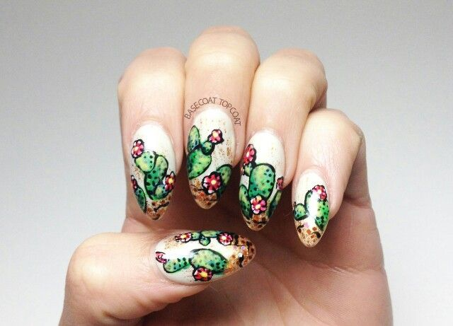 Cactus Nail Art Complimentary Pinterest Nail Art