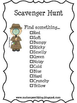 25+ best ideas about Preschool scavenger hunt on Pinterest