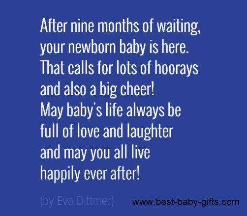 What To Write In A Baby Congratulations Card Baby Poem By Eva Dittmer Baby Quotes Wishes
