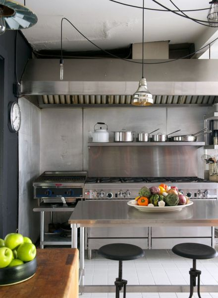 industrial kitchen hood in Spirits They Can Live With | Industrial, Kitchen interior and Hoods