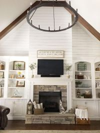 25+ best ideas about Shiplap fireplace on Pinterest