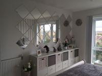 Grey bedroom, IKEA Kallax, IKEA LOTS mirrors   deco appart ...