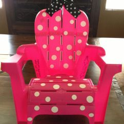Minnie Mouse Chairs For Kids Desk Chair Pillow Cool Way To Redo Avary's Beach Chair: Made Out Of A Plain Toddler From ...