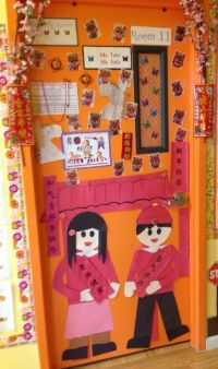 Chinese New Year door decorations, Chinese new year