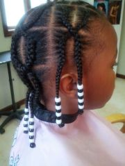 design cornrows & beads extension