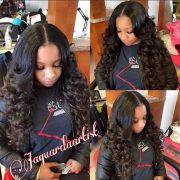 #invisiblepart #curls #weave