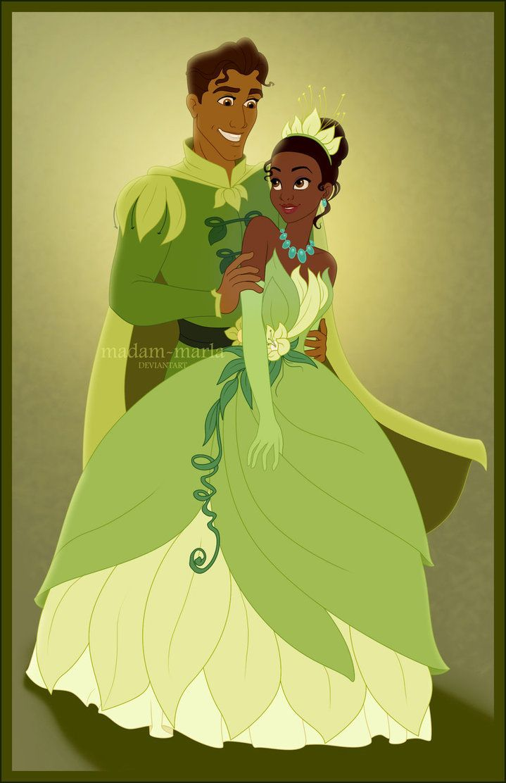 Tiana and Naveen by madammarla on deviantART  Disney Princess  Pinterest  Disney Logos and