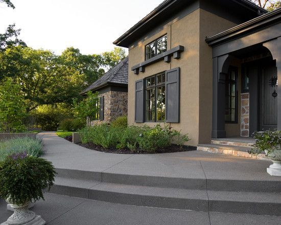 stucco house paint colors medium and dark brown combo