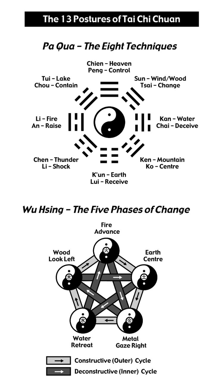 13 Postures of Tai Chi Chuan as explained in Tai Chi Chuan