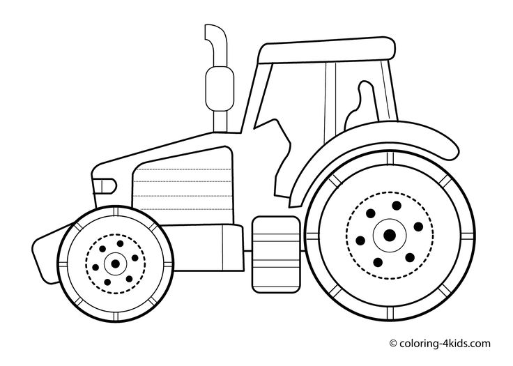 Tractor Transport Coloring pages for kids, printable