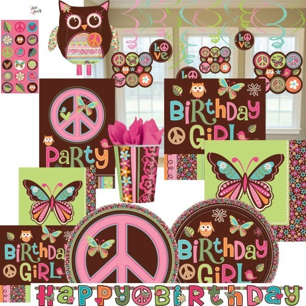 Hippie Chick Peace Ultimate Birthday Girl Party Supplies U