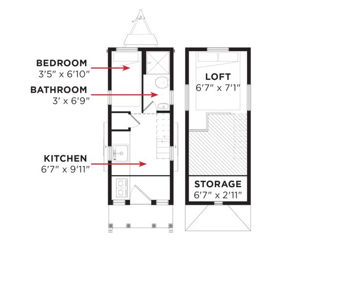 17 Best images about Tiny House Ground Floor Bedroom on