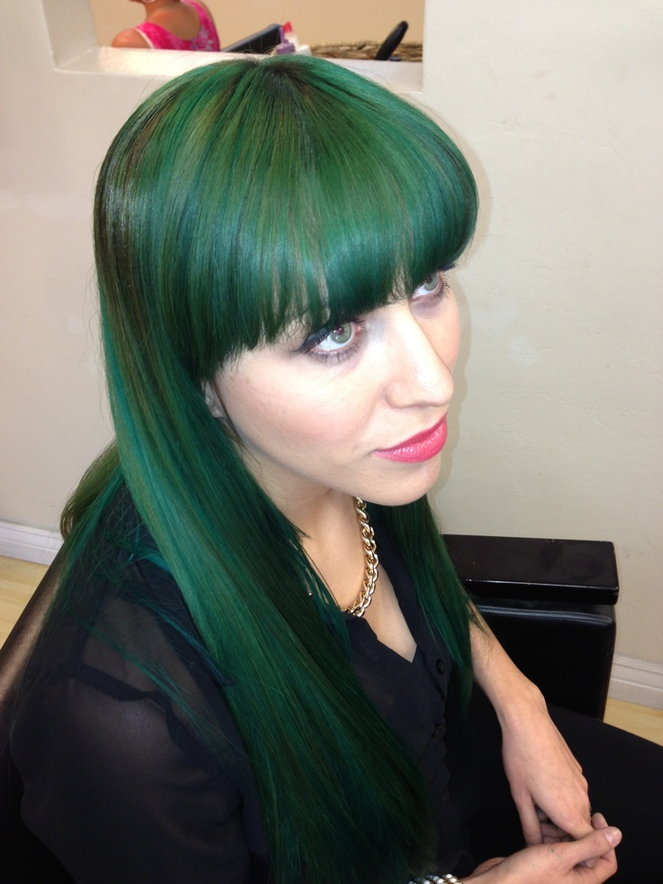Dark emerald green hair FABULOS  Hair Extensions pic