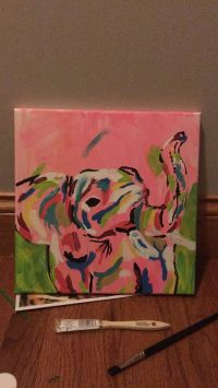 1000+ ideas about Elephant Canvas Painting on Pinterest