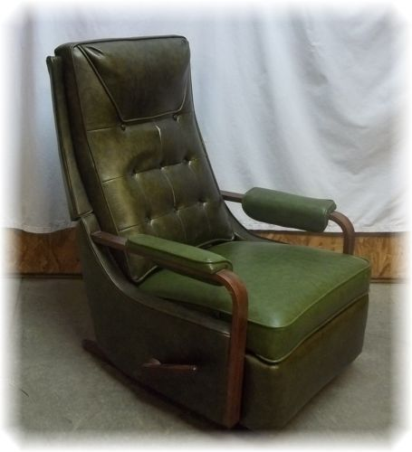vin e mid century danish modern la z boy rocker recliner rocking chair s s