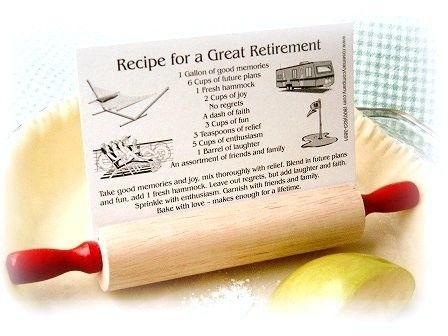 Gift Idea For A Retiree Retirement Rolling Pin Recipe