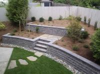 25+ best ideas about Concrete block retaining wall on ...