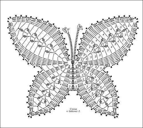 17 Best images about motyle i serca szydelkowe on