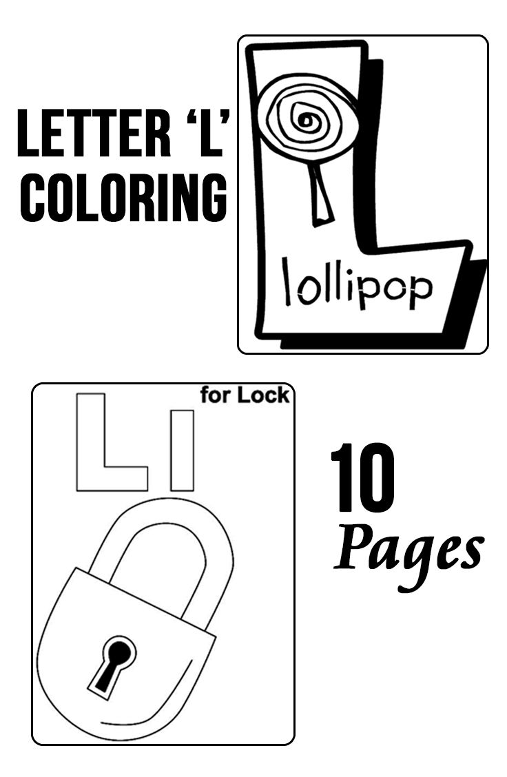 Top 10 Free Printable Letter L Coloring Pages Online