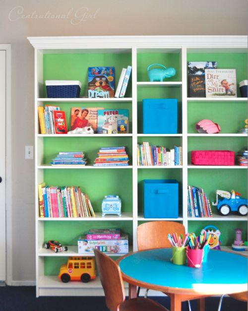 Using Beadboard Wallpaper On Ikea Billy Bookcases Overthrow Martha