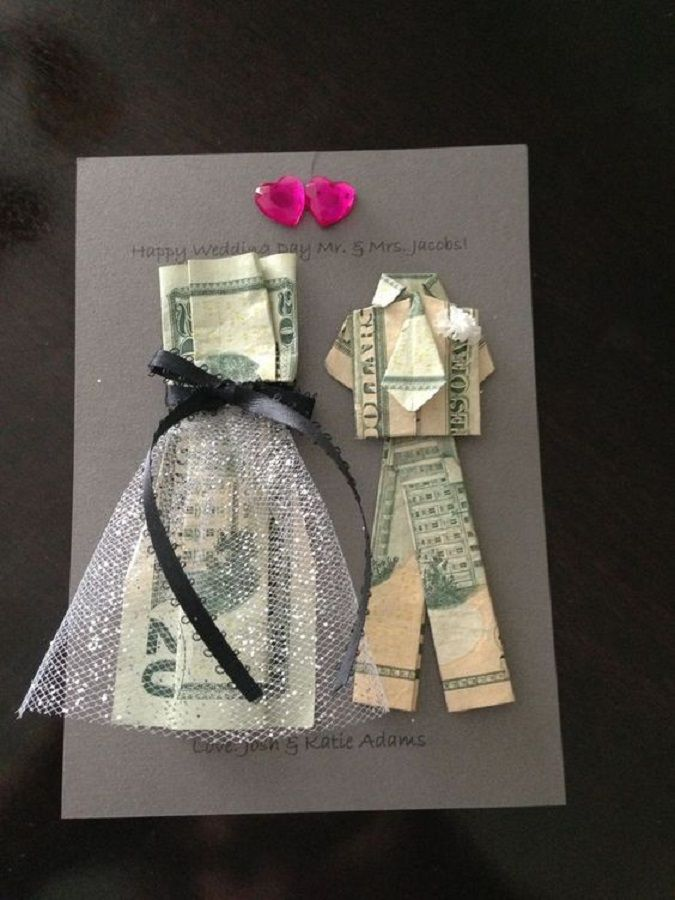 Bride And Groom Money Origami A DIY Gift Idea For A