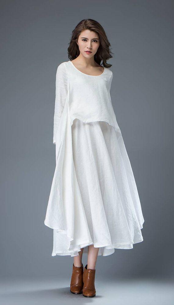 1000+ ideas about White Linen Dresses on Pinterest