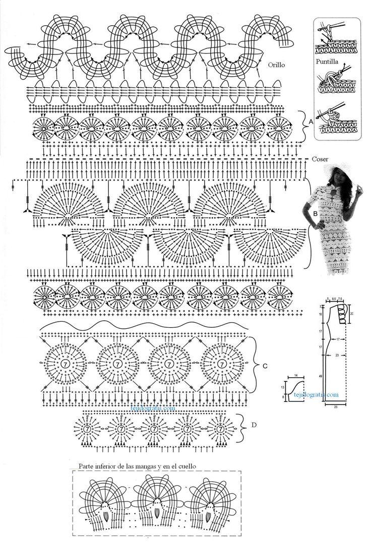 112 best crochet dresses long images on Pinterest