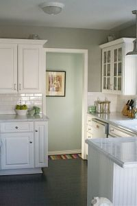 love how the paints colors for the kitchen (gray) & the ...