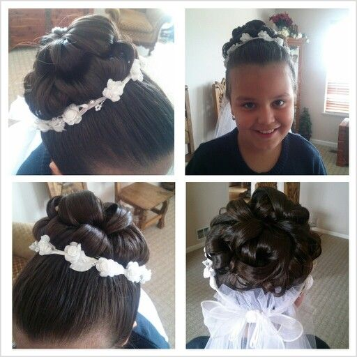 The 34 Best Images About First Communion Hair On Pinterest Updo