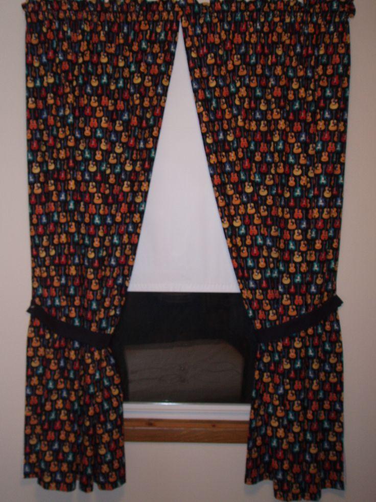 Guitar curtains  My Doll Clothes  Pinterest  Curtains