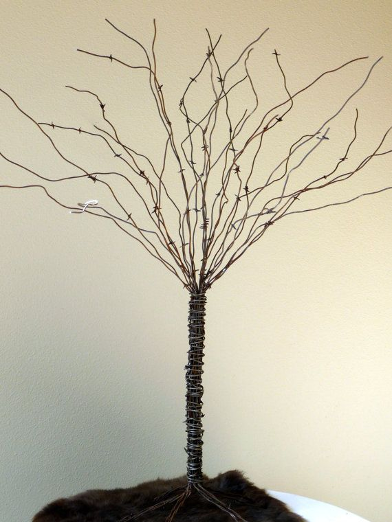 One Large Rustic Wedding Western Table Topper Or Money Tree By Plus Z Ranch Trees Money Trees