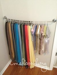 Scarf organizer | Organizing | Pinterest | Scarfs and ...