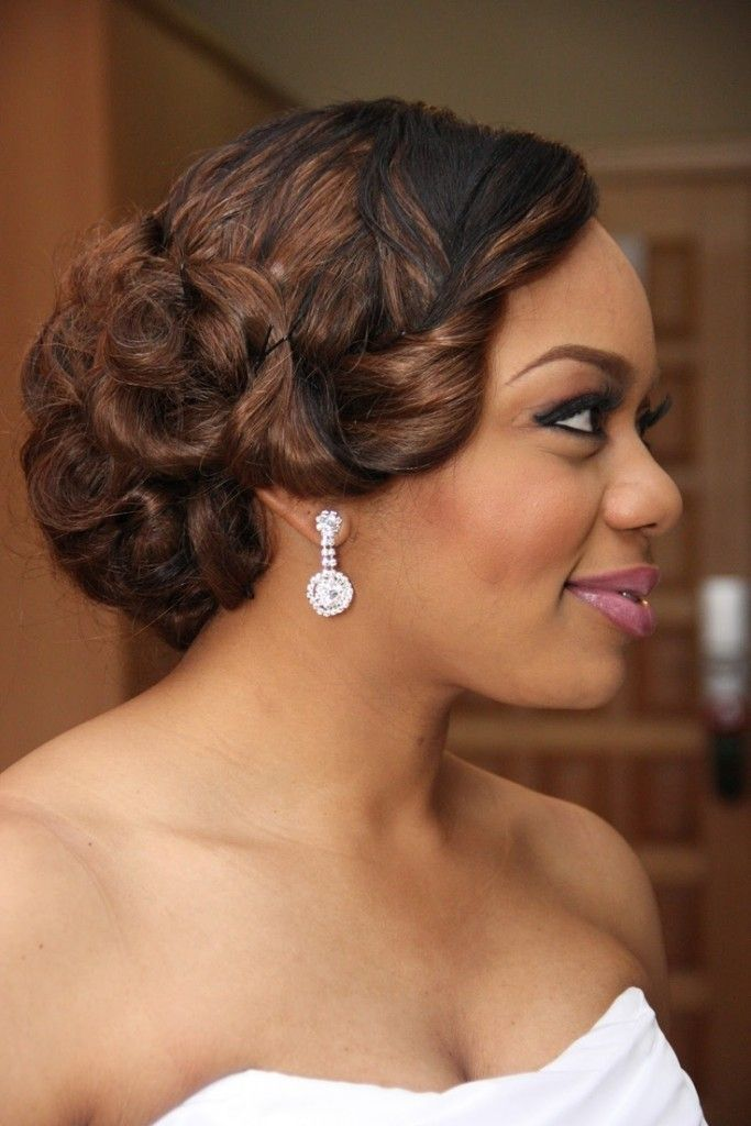 20 Wedding Hairstyles For Black Women Ideas Wedding! Noivas And