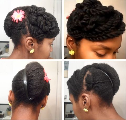 Cute Banana Clip Updo On 4c Natural Hair Retro Hair