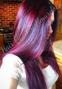 Purple hair, violet hair, red hair, red violet hair color ...