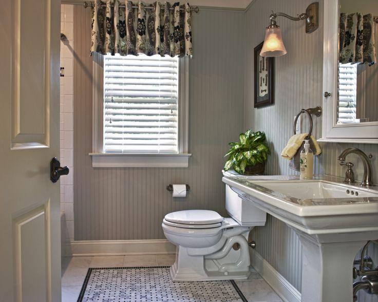 custom bathroom window treatment  Custom Window Treatment