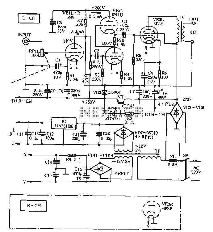 Compactron Tube Amplifier Schematic