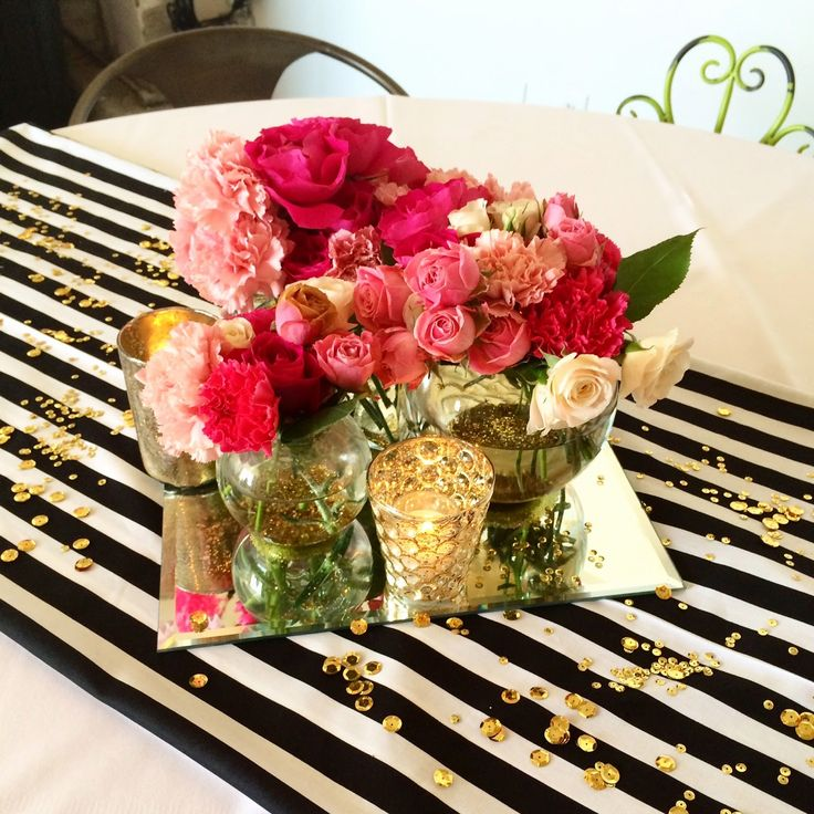 elizabeth grace Kate Spade Inspired Bridal Shower  Black