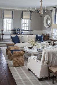 Pretty grey navy nautical themed room! So pretty ...