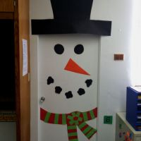 Snowman door decoration | Classroom Door Decorations ...