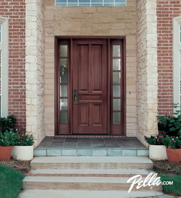 Enjoy walking up to your homes entrance with a Pella wood