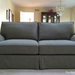 3 Cushion Sofa Slipcover Navy Blue Velvet Set Washable Denim Custom Made For A Quatrine ...