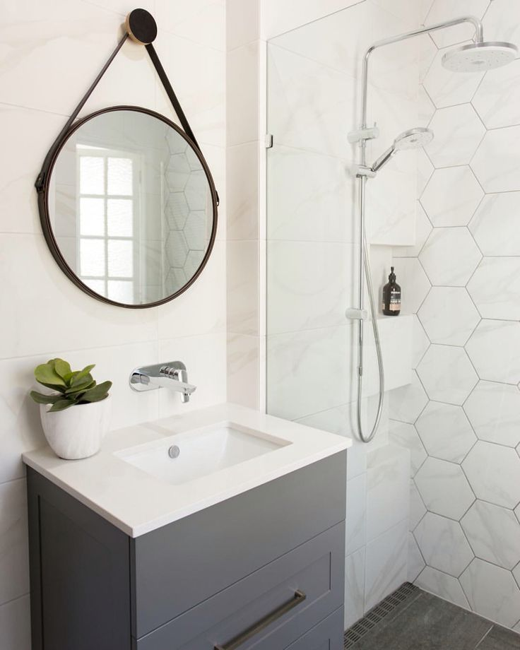The 25 best Hexagon tile bathroom ideas on Pinterest