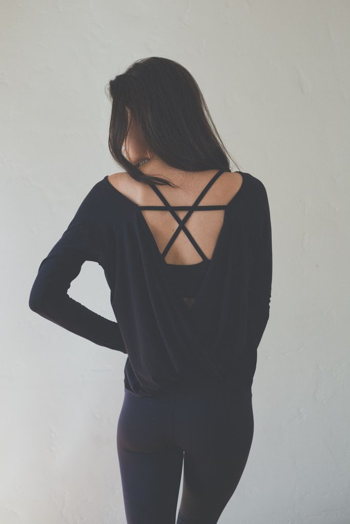 Hanley Long Sleeve in Black over the Ex Bra Perfect Combo! ( I would change up the colors though)