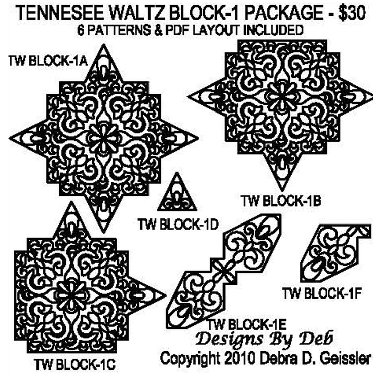 1000+ images about Patchwork...Tennessee Waltz Quilt on